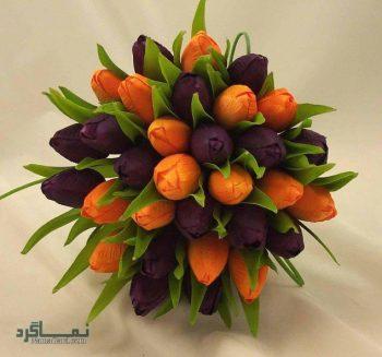 دسته گل عروس مدل پاییزی