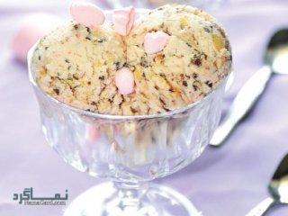طرز تهیه بستنی عسلی خوش طعم + تزیین