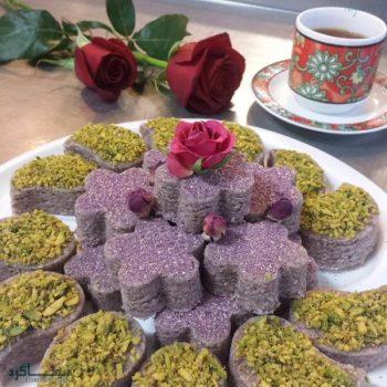 حلوای گل محمدی شیک