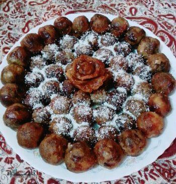 طرز تهیه حلوای خرما مقوی + تزیین