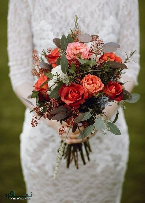 نمونه های زیبای دسته گل عروس به سبک روستیک