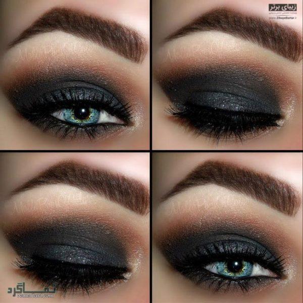 آرایش مناسب چشم های آبی