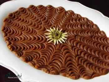 طرز تهیه حلوای خرما + تزیین