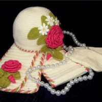 انواع مدل های کلاه و شال بافتنی بچه گانه