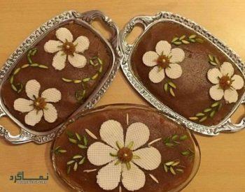 طرز تهیه حلوای عربی خوشمزه + تزیین