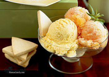 طرز تهیه بستنی عسلی
