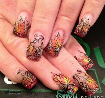 طراحی ناخن پاییزی