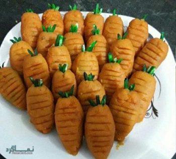 حلوا هویج لذیذ و خوشرنگ