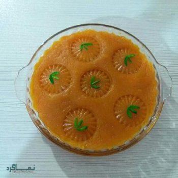 حلوا هویج خوشرنگ + تزیین