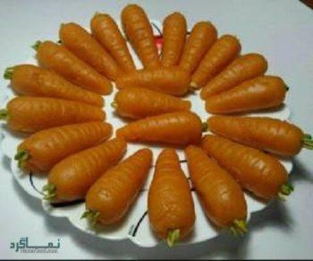 حلوا هویج + تزیین