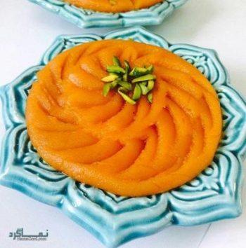 طرز تهیه حلوا هویج خوش رنگ + تزیین