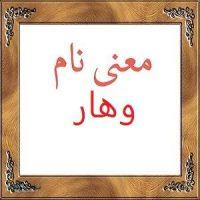 معنی نام وهار   اسم های دخترانه ایرانی + معنی وهار