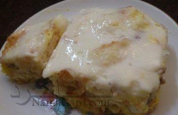 طرز تهیه فرنی با نان تست لطیف + تزیین