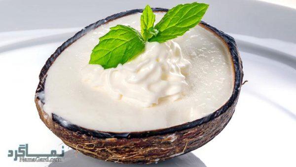 طرز تهیه بستنی نارگیلی خوشمزه + فیلم آموزشی