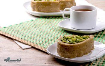 طرز تهیه حلوا ارده خوشمزه + تزیین