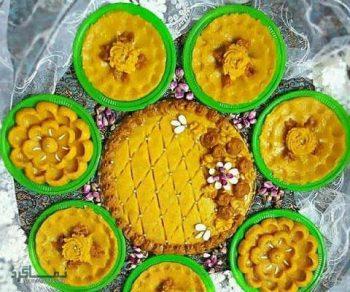 طرز تهیه حلوا شیرازی خوشمزه + تزیین