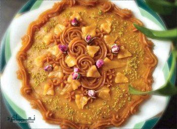 طرز تهیه حلوای عربی خوشمزه و شیک