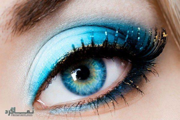آرایش مناسب چشم آبی
