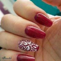 تصاویری از طراحی ناخن با لاک قرمز