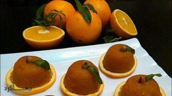 طرز تهیه حلوا پرتقالی + تزیین