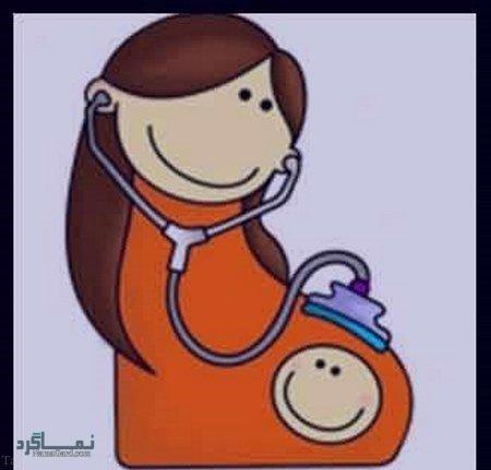 عکس کارتونی پروفایل برای بارداری