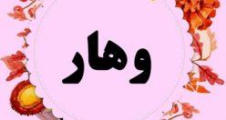 معنی نام وهار | اسم های دخترانه ایرانی + معنی وهار