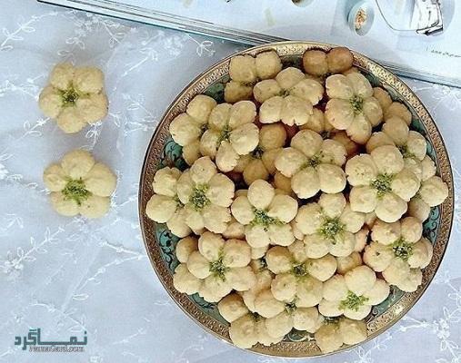 طرز تهیه شیرینی بادام ترد + تزیین