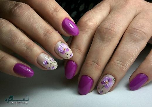طراحی ناخن گلدار