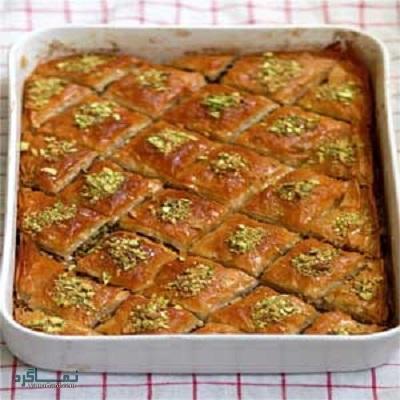 طرز تهیه کیک باقلوا مجلسی