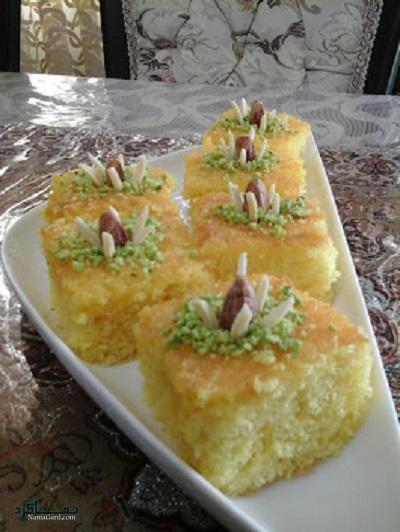 طرز تهیه کیک باقلوا لذیذ + تزیین
