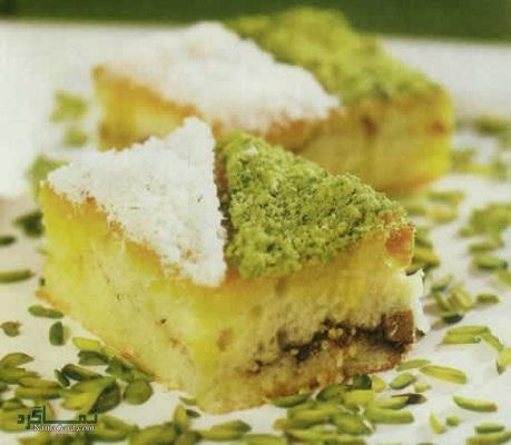 طرز تهیه کیک باقلوا خوش طعم + تزیین