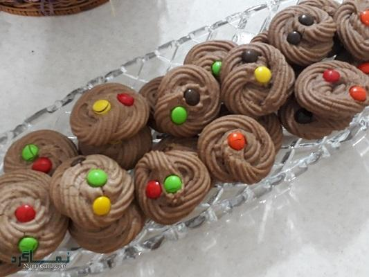 طرز تهیه کوکی شکلات شیک + فیلم آموزشی