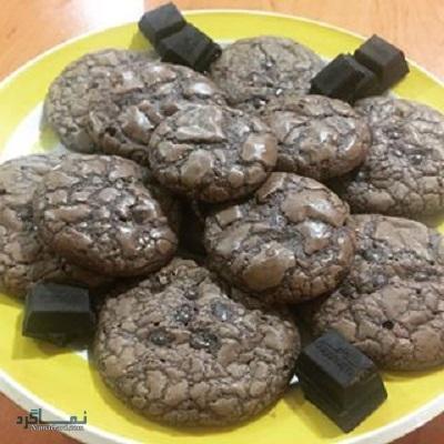 طرز تهیه کوکی شکلات شیک + تزیین