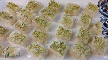 طرز تهیه لوز نارگیلی + تزیین