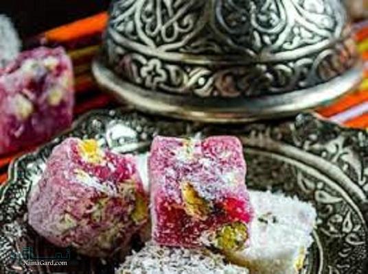 طرز تهیه مسقطی گل محمدی + تزیین