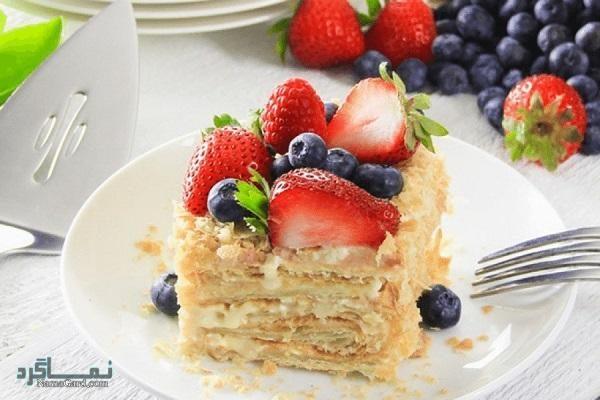 طرز تهیه شیرینی ناپلئونی لطیف + تزیین