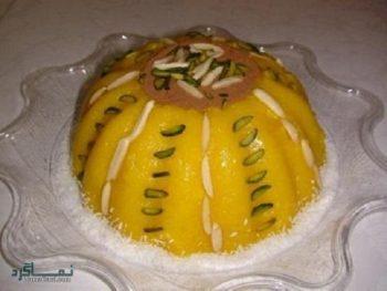طرز تهیه شله زرد قالبی خوشمزه + تزیین