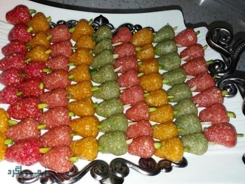 طرز تهیه شیرینی توت عیدانه + تزیین