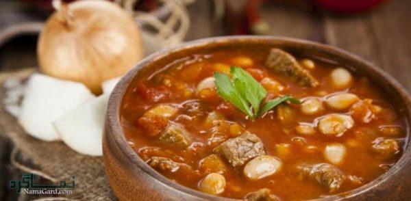 دستور پخت خوراک گوشت و لوبیا خوشمزه و لذیذ