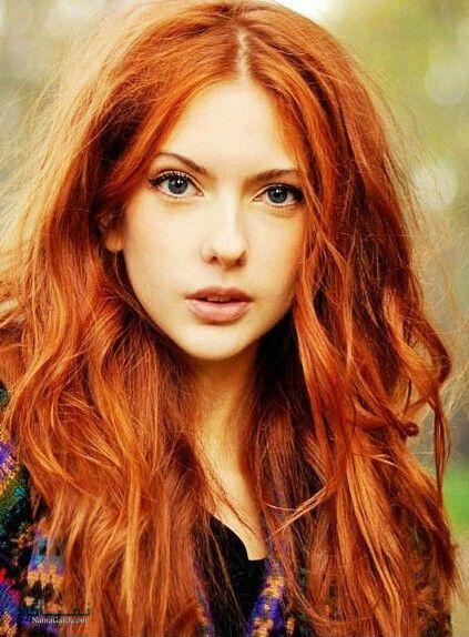 رنگ موی نارنجی تیره