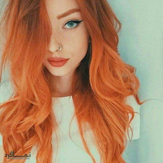رنگ موی نارنجی روشن
