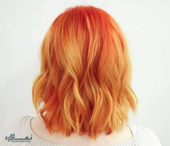 زیباترین مدل های مو با رنگ موی نارنجی 2019