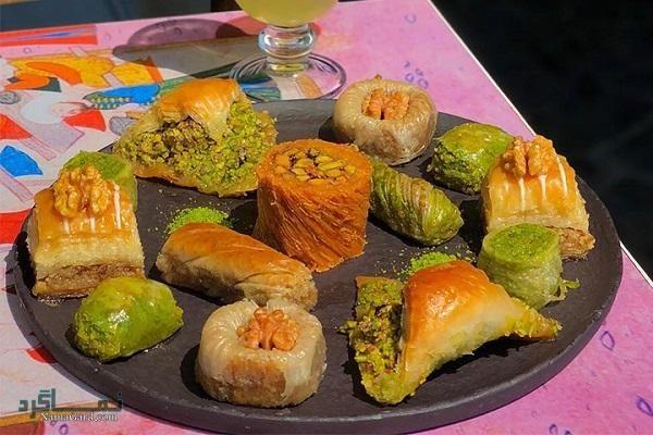 طرز تهیه باقلوا + تزیین