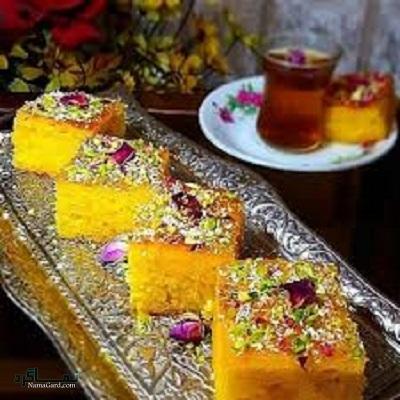 طرز تهیه کیک باقلوا + تزیین