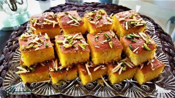 طرز تهیه کیک باقلوا +فیلم آموزشی