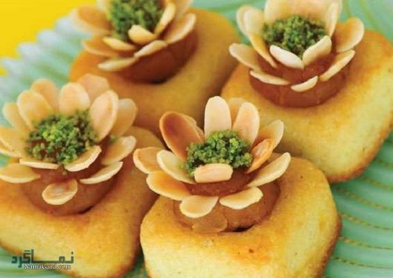 کیک باقلوا + تزیین