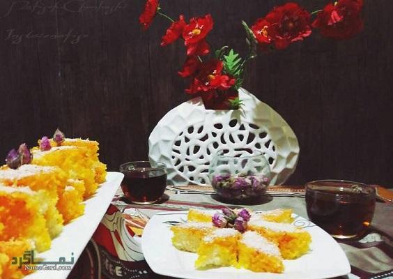طرز تهیه کیک باقلوا لذیذ + فیلم آموزشی