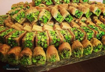 طرز تهیه باقلوا پسته خوشمزه + تزیین