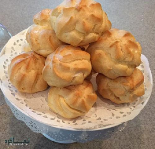 طرز تهیه نان خامه ای مجلسی + تزیین