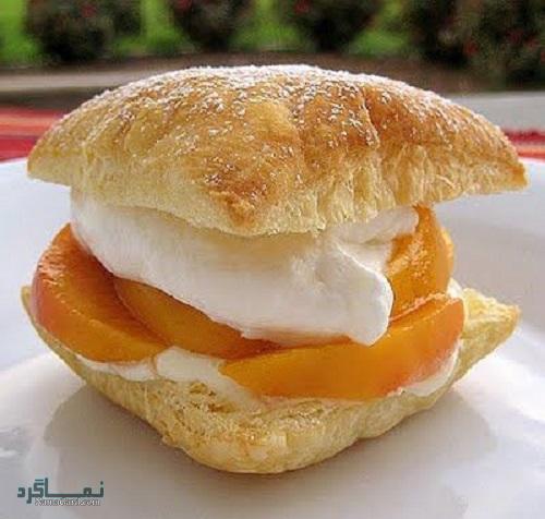 طرز تهیه نان خامه ای خوشمزه + تزیین